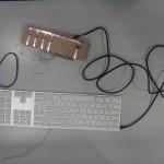 Le clavier en bois tactile