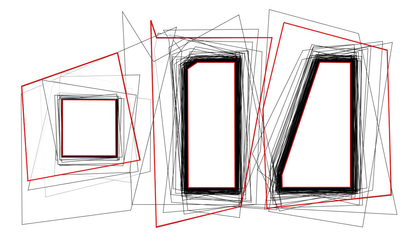 Psycho, distinction des patrons initial et final parmi le dessin Processing