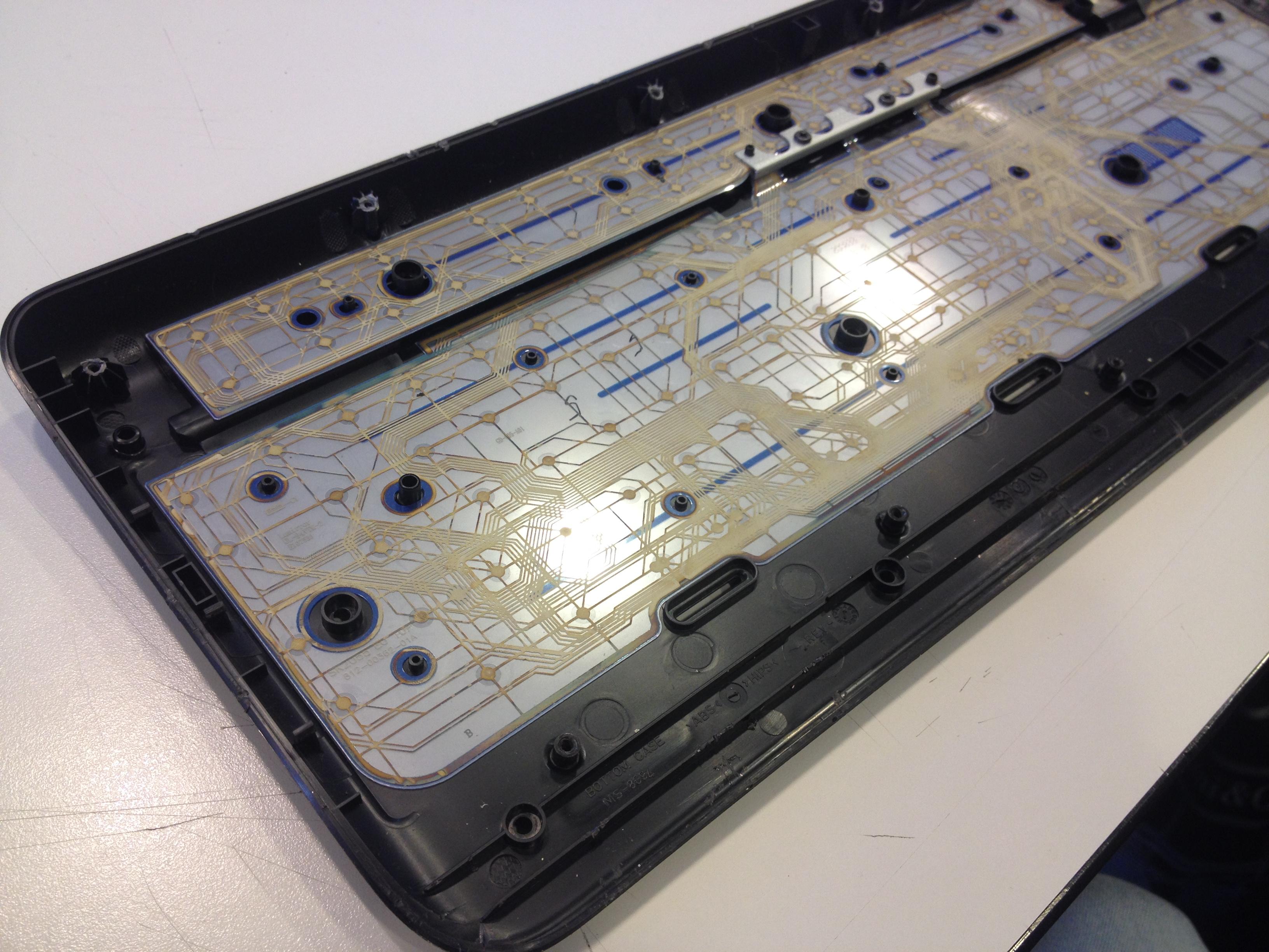 intérieur clavier